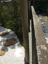 竹垣の裏側