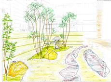 和風庭園 イメージスケッチ 画像